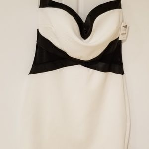 Charlotte Russe Strapless Black & White Dress Med